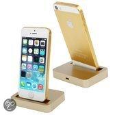 Iphone 5 / 5S / 5C bureaulader dock goud