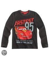 Disney Cars Jongensshirt - Grijs Melange - Maat 110