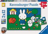 Ravensburger Nijntje bij de Dieren - Kinderpuzzel