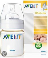 Philips Avent SCF660/17 - Zuigfles 125 ml Pes Gold Incl Speen