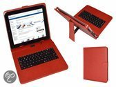 i12Cover Qwerty Keyboard Case voor Archos 97b Platinum, Rood