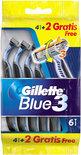 Gillette Blue III - 6 stuks - Wegwerpscheermesjes