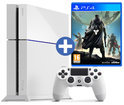 Sony PlayStation 4 Console 500GB + 1 Wireless Dualshock 4 Controller + Destiny - Vanguard Edition + 30 dagen PSN Plus Voucher - Wit PS4 Bundel