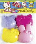 Hello Kitty Zandvormen - 4 Stuks
