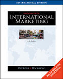 Principles of International Marketing, International Edition (with InfoTrac®)