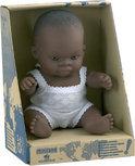 Miniland Babypop Afrikaanse Jongen - 21 cm