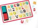 Puzzel alfabetstempels - 26 stuks
