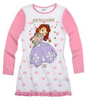 Disney Princess Nachtjapon - Wit / Roze - Maat 128