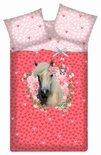 Beddinghouse Sweet Horse dekbedovertrek - Pink - 1-persoons (140x200/220 cm + 1 sloop)