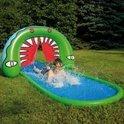 Wehncke: Krokodil waterglijbaan, Glijbaan met Crocodile look; 510cmx110cm, Blauw-Groen