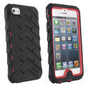 Gumdrop - iPhone 5/5s case - Drop Series - zwart/rood