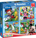 Jumbo Mickey Mouse Clubhouse 4 in 1 - Puzzel - 12 stukjes