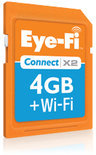 Eye-Fi Connect X2 - WiFi SDHC kaart 4Gb