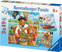 Ravensburger 3-in-1 Puzzel - Piratenavontuur