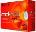 Sony CD-RW 80min/700MB 5 stuks in jewelcase