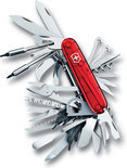 Victorinox Swiss Champ XLT - Zakmes - 50 Functies - Rood Transparant