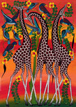 Tinga Tinga African Art Giraffes - Puzzel - 1000 stukjes