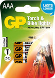 GP APC AAA. Micro Torch & Bike lights 4pack
