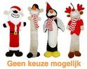 Happy Pet Xmas Loofa Kerstman/Sneeuwman/Rendier/Pinguin Assorti