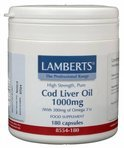 Lamberts Levertraanolie 1000 mg - 180 Capsules - Voedingssupplement