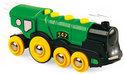 Brio Grote Locomotief op Batterijen Groene Gustav