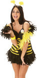 Bumble Bee dress - Kostuum - Maat M - Geel