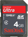 Sandisk Ultra SD kaart 4 GB