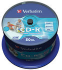 Verbatim 43309 CD-R AZO Wide Inkjet Printable Schijven- ID Branded - 50 Stuks / Spindel