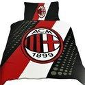 AC Milan Dekbedovertrek - 140 x 200 cm - Zwart / Rood