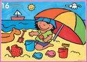 Noa Op Het Strand - Vloerpuzzel - Legpuzzel - 16 Stukjes