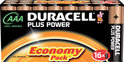 Duracell Plus Power 16 AAA Batterijen