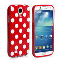 Samsung Galaxy S4 Polka Dot case cover - rood