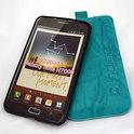 Samsung Galaxy Note rundlederen Indigo-Case - turquoise