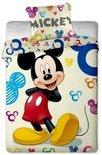 Disney Dekbedovertrek mickey mouse colours 140 x 200 cm