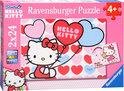 De wereld van Hello Kitty - Kinderpuzzel - 2x 24 Stukjes