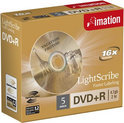 Imation Lightscribe DVD+R 16x 5PK V1.2.