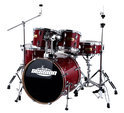 XDrum Xdrum Session Stage II Drumset, Transculent Red