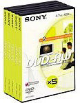 Sony DVD-RW 120min/4,7GB 5 stuks in videobox