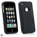 iPhone 4 & 4S siliconen cover case S-line design TPU hoes - zwart