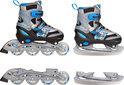 Inline Skates Combo Blauw - Maat 30-33