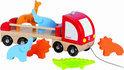 Trekfiguur Vrachtwagen rood met dieren