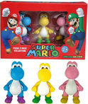 Nintendo 3 Yoshi Mini Figuren (Roze,Geel,Blauw) (Limited Edition)