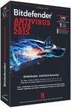 Bitdefender Antivirus Plus 2015 - 1 Gebruiker / 1 jaar / Productcode zonder DVD