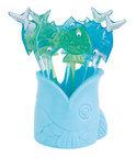Zak!Designs Vis Prikkertjes - Herbruikbaar - Blauw - Set van 8 stuks