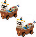 Little tikes Play 'n Scoot Pirate Ship 2 Pack Bundle