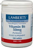 Lamberts Vitamine B6 50 mg - 100 Tabletten