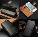iPhone 5 / 5S Pasjes Flip Cover Case Leer - Zwart