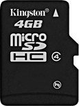 Kingston MicroSD Card High Capacity 4GB class 4 - geheugenkaart