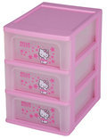 IRIS Hello Kitty - Ladekastje met 3 Lades - Roze/Transparant