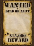 Wanted poster 59x42 cm